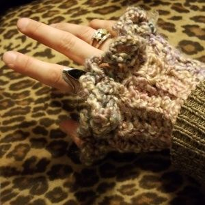 Jackets & Blazers - Multicolored Sleeve Extenders Decorative Knit Spat
